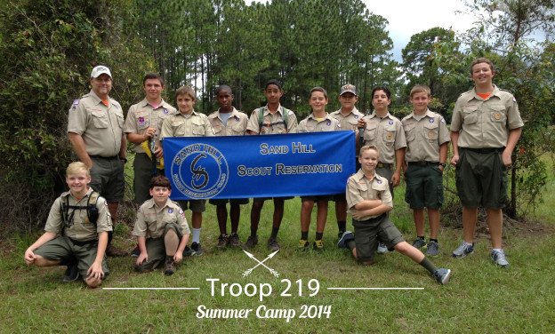 Troop 219 at Sandhill Reservation Jun 2014